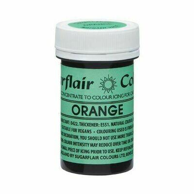 SALE!!! Sugarflair NatraDi Natural Paste Colours -ORANGE 25g - Φυσικό Χρώμα σε Πάστα Πορτοκαλί ΑΝΑΛΩΣΗ ΚΑΤΑ ΠΡΟΤΙΜΗΣΗ 06/21