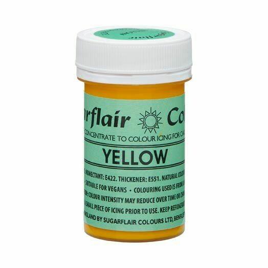 SALE!!! Sugarflair NatraDi Natural Paste Colours -YELLOW 25g - Φυσικό Χρώμα σε Πάστα Κίτρινο ΑΝΑΛΩΣΗ ΚΑΤΑ ΠΡΟΤΙΜΗΣΗ 06/21