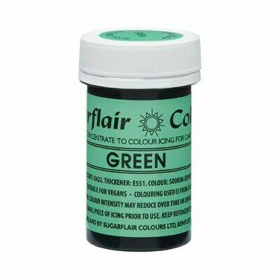 Sugarflair NatraDi Natural Paste Colours -GREEN 25g - Φυσικό Χρώμα σε Πάστα Πράσινο