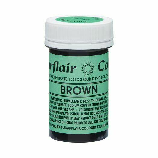 Sugarflair NatraDi Natural Paste Colours -BROWN 25g - Φυσικό Χρώμα σε Πάστα Καφέ