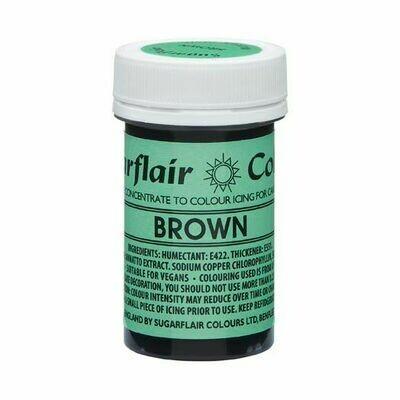 SALE!!! Sugarflair NatraDi Natural Paste Colours -BROWN 25g - Φυσικό Χρώμα σε Πάστα Καφέ ΑΝΑΛΩΣΗ ΚΑΤΑ ΠΡΟΤΙΜΗΣΗ 06/21