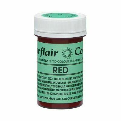 Sugarflair NatraDi Natural Paste Colours -RED 25g - Φυσικό Χρώμα σε Πάστα Κόκκινο