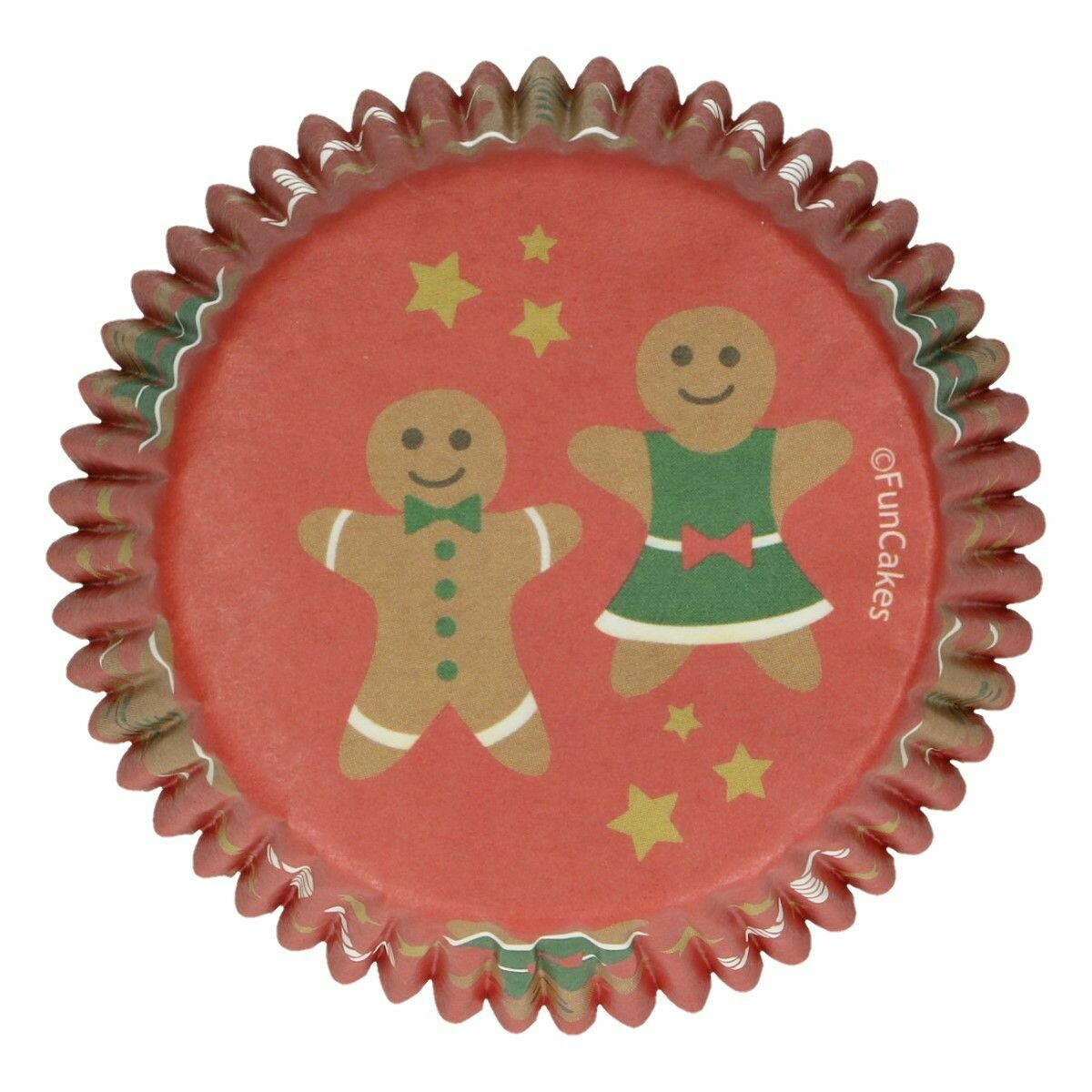 FunCakes Cupcake Cases -CHRISTMAS -GINGERBREAD PEOPLE -Θήκες Ψησίματος 48 τεμ