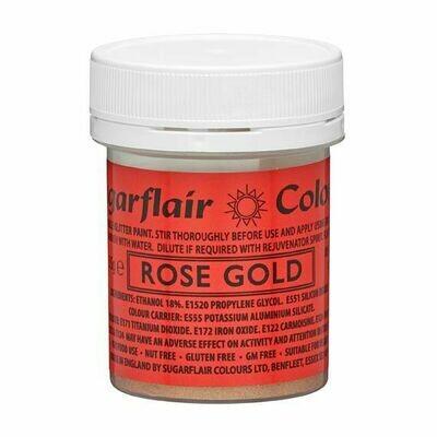 Sugarflair Food Paints -GLITTER ROSE GOLD -Βρώσιμο Χρώμα Ζωγραφικής -Γκλίτερ Ροζ Χρυσό 35γρ