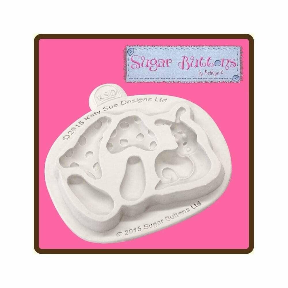 Katy Sue Silicone Mould -ORNAMENTAL CHERUBS -Καλούπι Σιλικόνης Διακοσμητικά Αγγελάκια