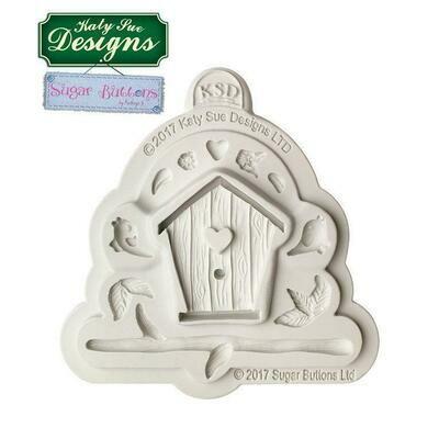 Katy Sue Silicone Mould -Sugar Buttons -BIRDHOUSE -Καλούπι Σιλικόνης Σπιτάκι Πουλιών