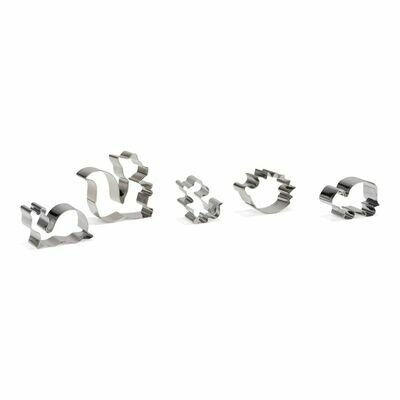 Patisse Cookie Cutters Set of 5 -FOREST ANIMALS 5-9εκ - Σετ 5τεμ Κουπ πατ Ζώα του Δάσους