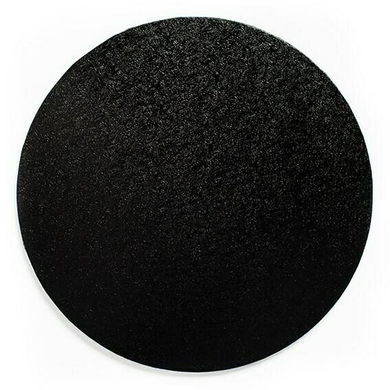 "Cake Drum round -BLACK 25cm (10"") - Στρογγυλή Βάση Μαύρη 25εκ - Πάχος 1,3εκ"