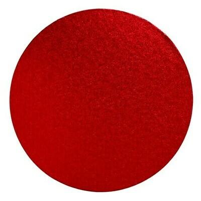 Cake Drum round -RED 25cm (10