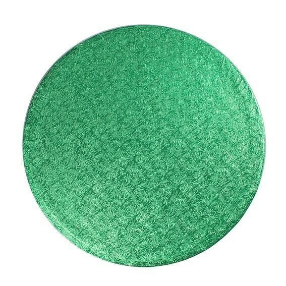 "Cake Drum round -GREEN 25cm (10"") - Στρογγυλή Βάση Πράσινη 25εκ - Πάχος 1,3εκ"
