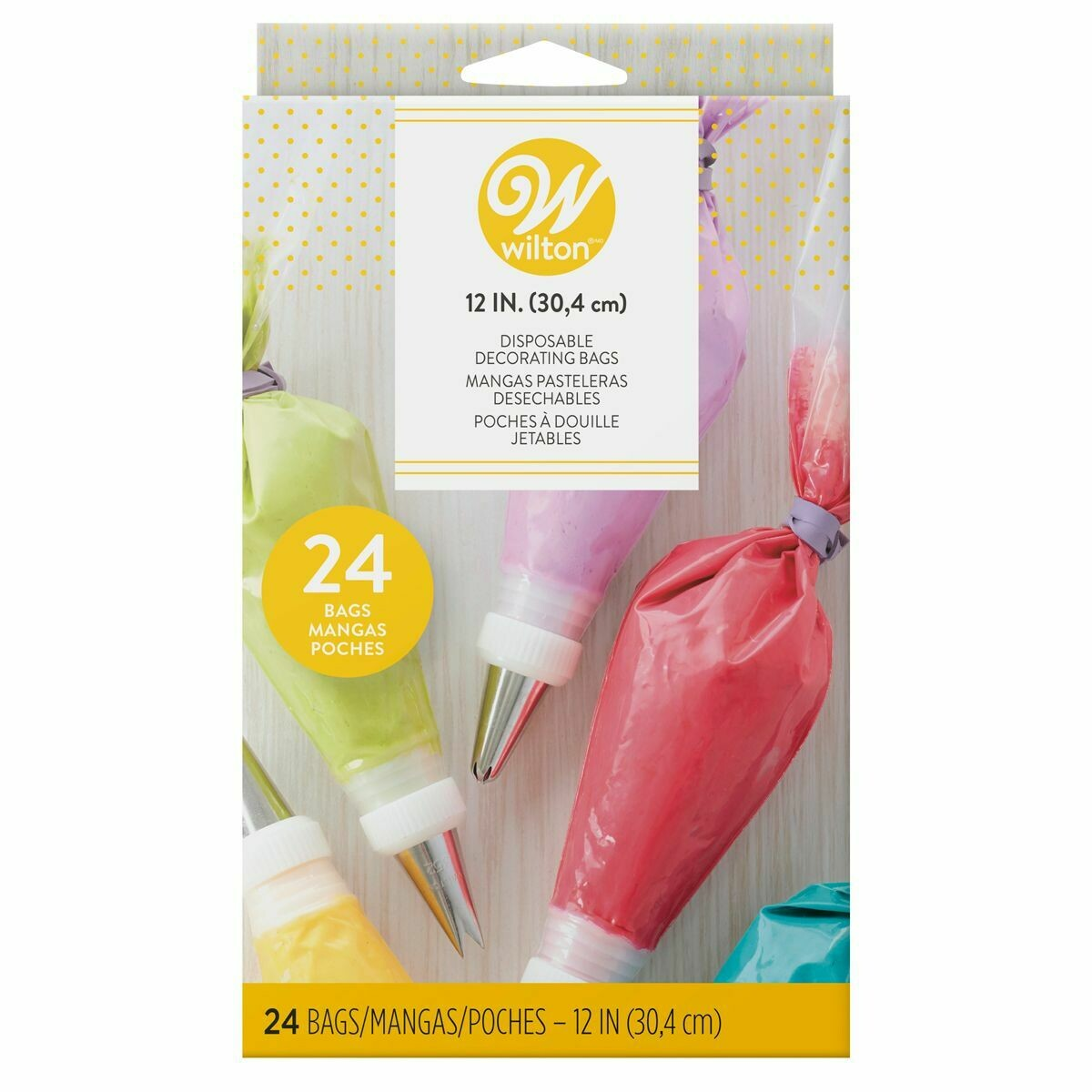 Wilton Disposable Decorating Bags 30εκ -24τμχ - Σακούλες Ζαχαροπλαστικής/Κορνέ μιας χρήσης 30εκ