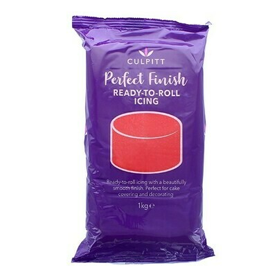 Culpitt 'Perfect Finish' Ready to Roll Sugarpaste Icing 1kg RED - Ζαχαρόπαστα 1kg σε κόκκινο χρώμα ∞
