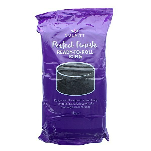 Culpitt 'Perfect Finish' Ready to Roll Sugarpaste Icing 1kg BLACK - Ζαχαρόπαστα 1kg σε Μαύρο χρώμα