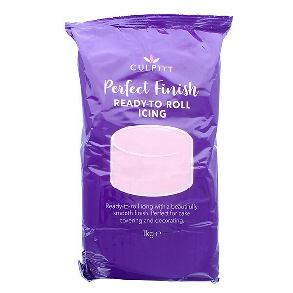 Culpitt 'Perfect Finish' Ready to Roll Sugarpaste Icing 1kg PINK - Ζαχαρόπαστα 1kg σε ροζ χρώμα