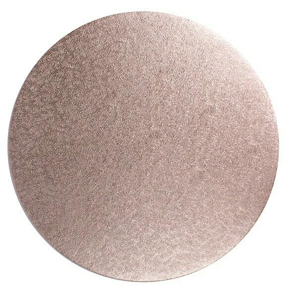 "Cake Drum Round -ROSE GOLD 30cm (12"") -Στρογγυλή Βάση Ροζ Χρυσό 30εκ -Πάχος 1,3εκ"