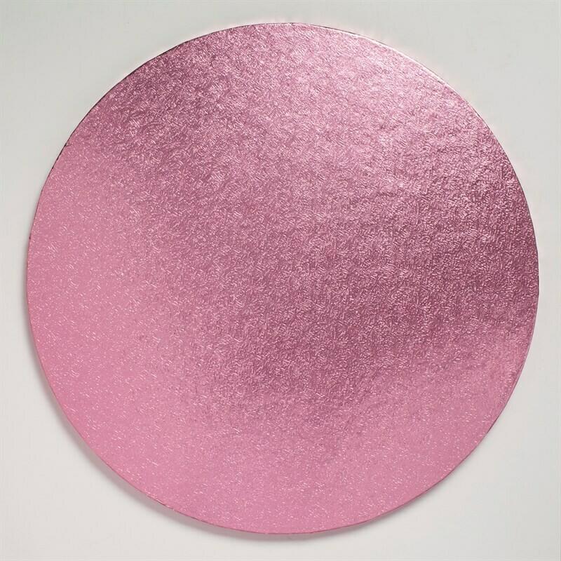"Cake Drum round -LIGHT PINK 25cm (10"") - Στρογγυλή Βάση Ανοιχτό Ροζ 25εκ - Πάχος 1,3εκ"
