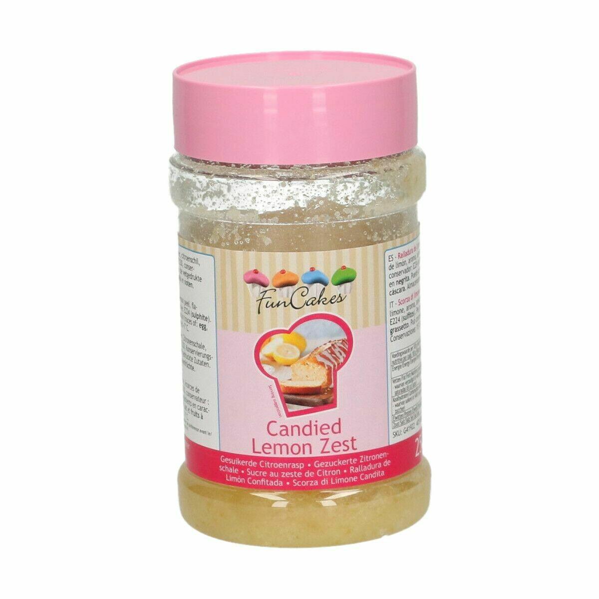 FunCakes Candied Lemon Zest 250g - Ζαχαρωμένη φλούδα λεμονιού 250γρ