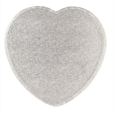 Cake Drum HEART Silver 30cm (12
