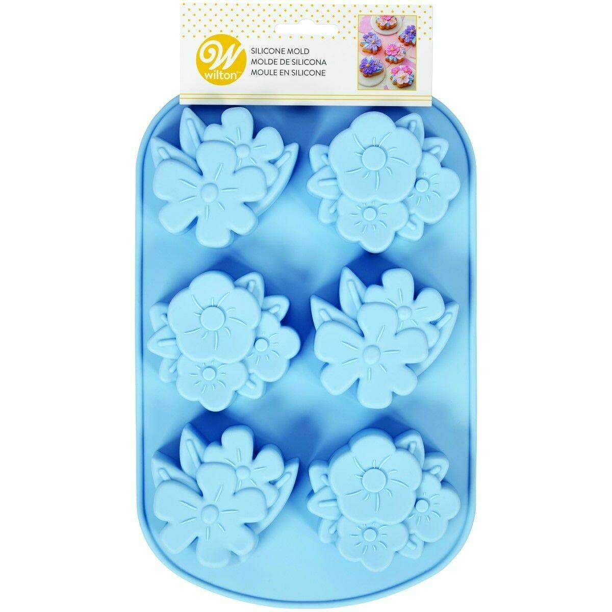 Wilton Silicone Baking Mould -FLORAL - Φόρμα Ψησίματος Σιλικόνης Λουλούδια