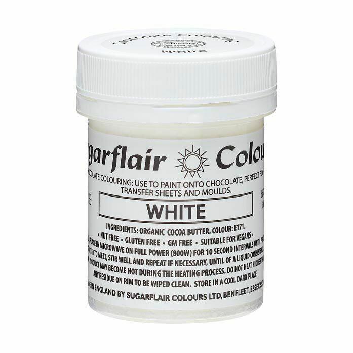 Sugarflair Chocolate PAINT -WHITE 35g - Χρώμα Σοκολάτας Λευκό