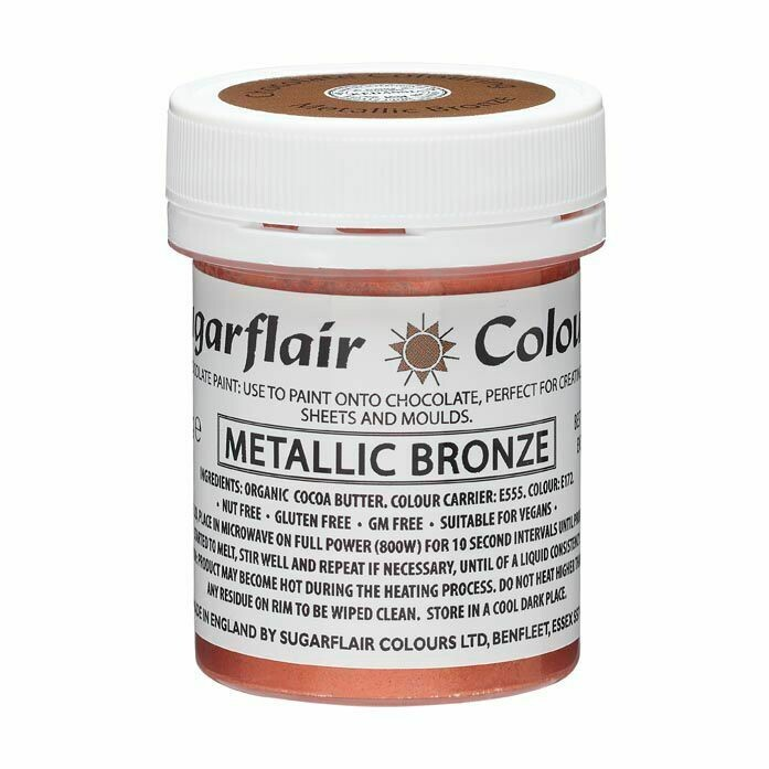 Sugarflair Chocolate PAINT -METALLIC BRONZE 35g - Χρώμα Σοκολάτας Μπρονζέ μεταλλικό