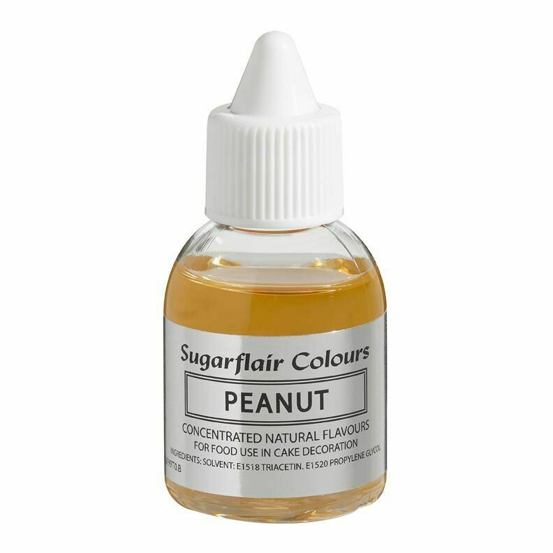 Sugarflair 100% Natural Flavour 30ml -PEANUT - Φυσικό Άρωμα Φυστίκι Πίνατ 30ml
