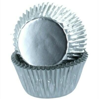 Baked With Love Cupcake Cases -METALLIC SILVER - Θήκες Ψησίματος -Μεταλλικό Ασημί 50 τεμ
