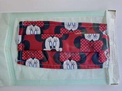 Μάσκα Ενηλίκων Κόκκινη Minnie Mouse ∞
