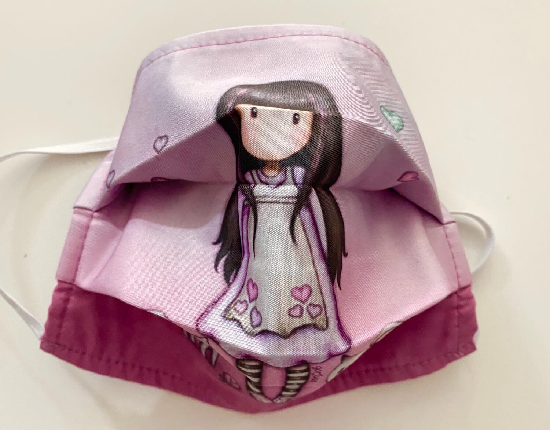 Μάσκα Παιδική Κούκλα -Ροζ ∞