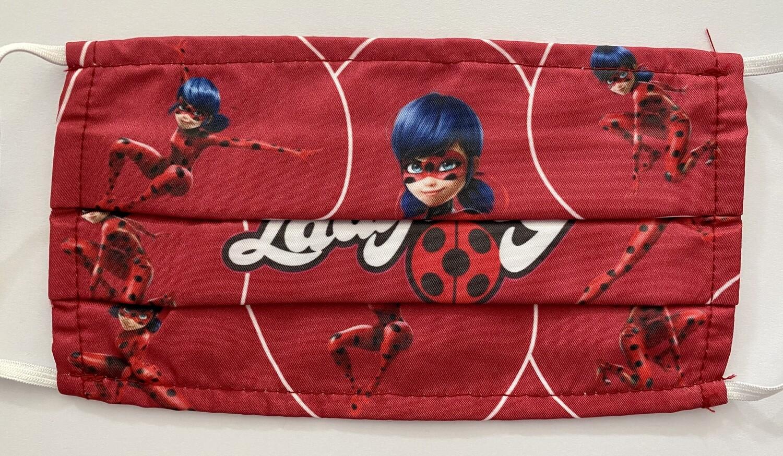 Μάσκα Παιδική Ladybug Κόκκινη