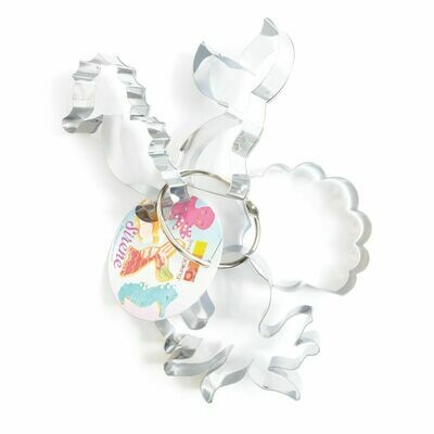 ScrapCooking Set of 4 Cookie Cutters -MERMAID SET -SEAHORSE, MERMAID TAIL, SHELL & OCTOPUS - Σετ 4τεμ κουπ πατ με Θαλασσινό Θέμα - ΓΟΡΓΟΝΑ, ΙΠΠΟΚΑΜΠΟΣ, ΚΟΧΥΛΙ, ΧΤΑΠΟΔΙ