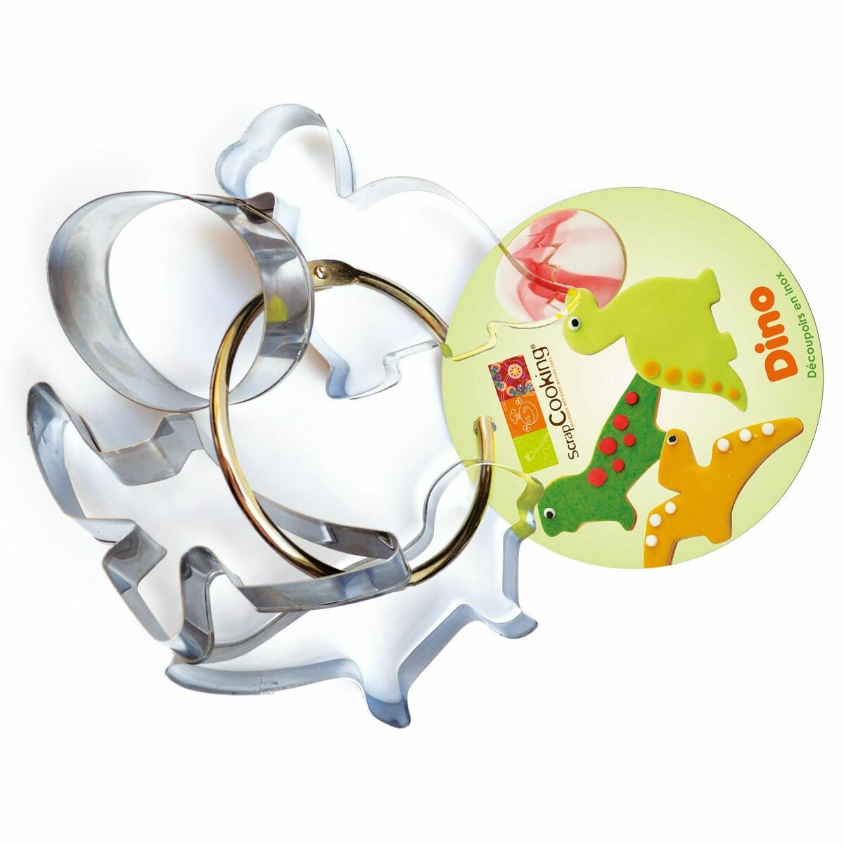 ScrapCooking Set of 4 Cookie Cutters -CUTE DINOSAUR & EGG SET - Σετ 4τεμ κουπ πατ Δεινόσαυροι και Αυγό