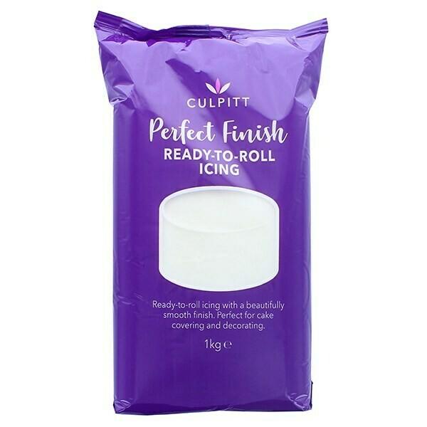 Culpitt 'Perfect Finish' Ready to Roll Sugarpaste Icing 1kg WHITE - Ζαχαρόπαστα 1kg σε Λευκό χρώμα