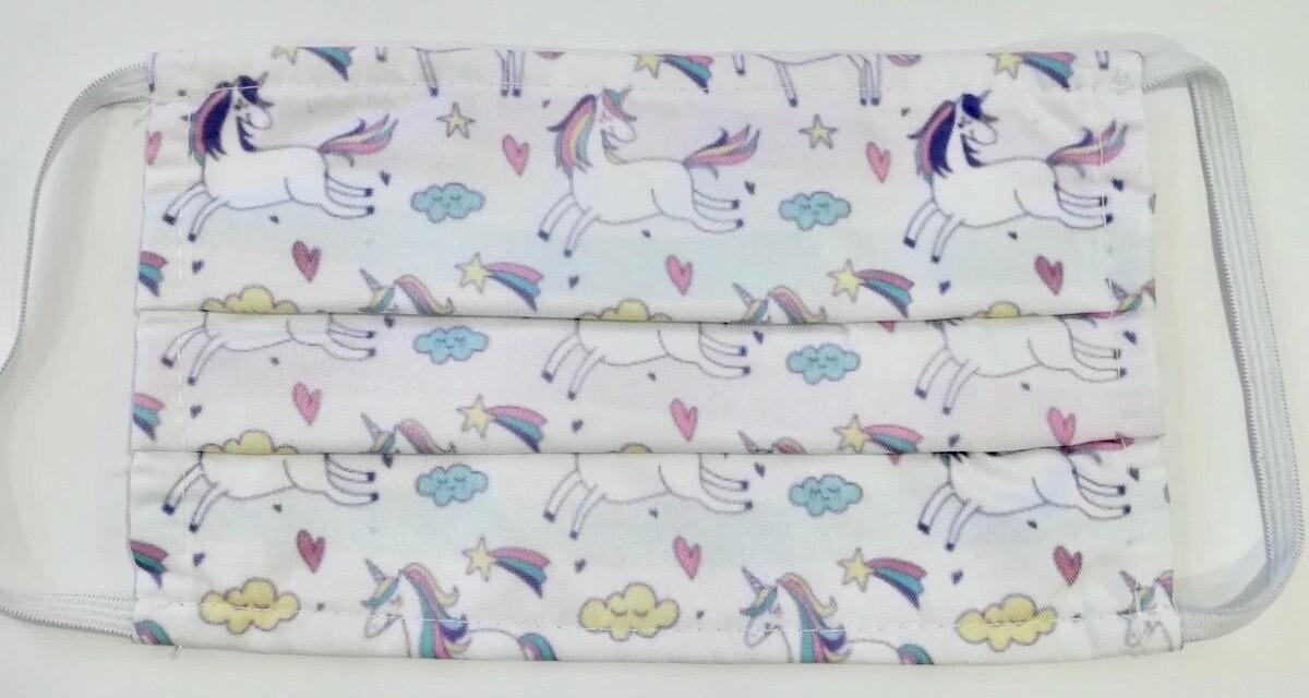 Μάσκα Παιδική η Unicorns & Rainbows -Pastel