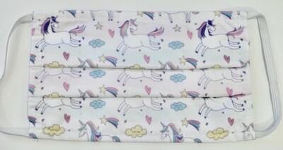 Μάσκα Παιδική η Unicorns & Rainbows -Pastel ∞