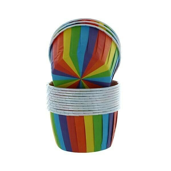 Baked With Love/Culpitt Cupcake Baking Cups -RAINBOW -Κυπελάκια Ψησίματος Ουράνιο Τόξο 24 τεμ