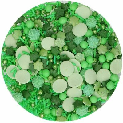 FunCakes Sprinkle Mix 65γρ -GREEN MEDLEY - Μείγμα  Ζαχαρωτών Σε πράσινες αποχρώσεις