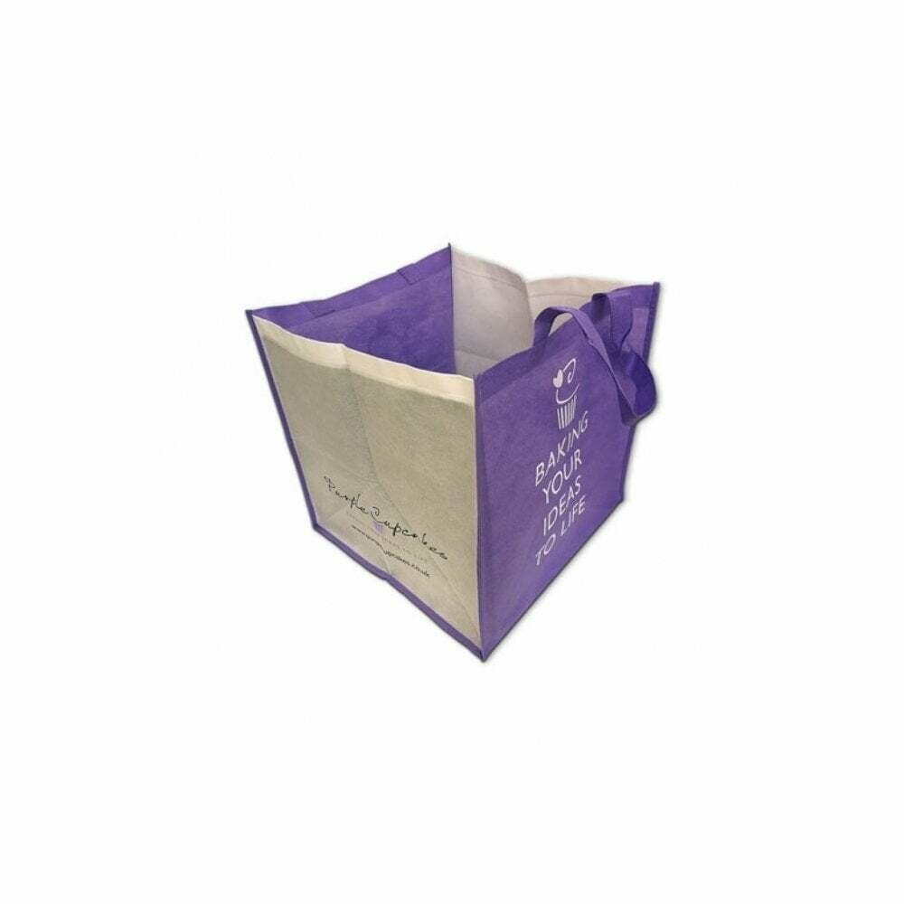 Purple Cupcakes Carrying Bag for Cakes & Cupcakes - Τσάντα για μεταφορά Τούρτας και Καπκέικ