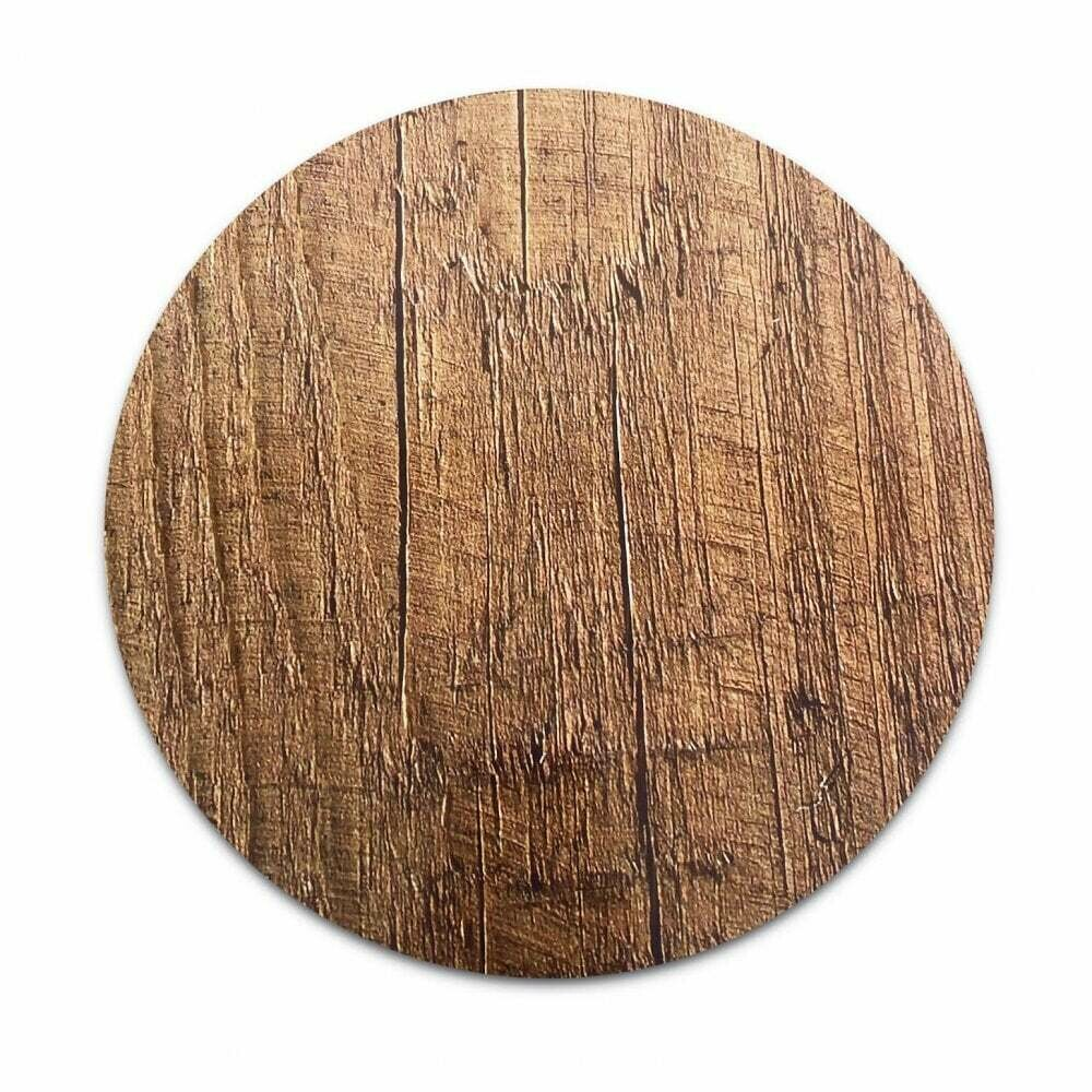 Masonite Cake Board ROUND 25εκ (10'') -WOOD EFFECT - Βάση τούρτας από τυπωμένο χαρτόνι με εφέ ξύλου
