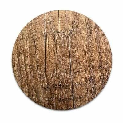 Masonite Cake Board ROUND 25εκ (10'') -WOOD EFFECT - Βάση τούρτας τυπωμένο ξύλο με εφέ ξύλου