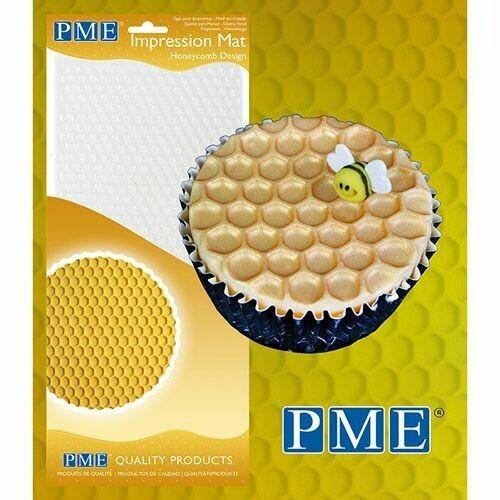PME Impression Mat -HONEYCOMB -Πατάκι Αποτύπωσης Σχεδίου Κηρήθρα