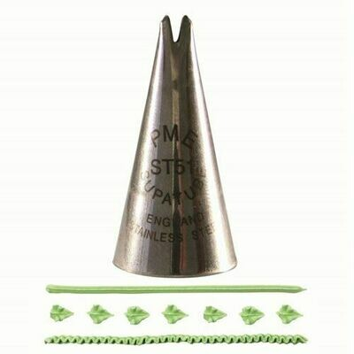 PME Nozzle -LEAF -MEDIUM -Μύτη Κορνέ για Μεσαίο Φύλλο No.51