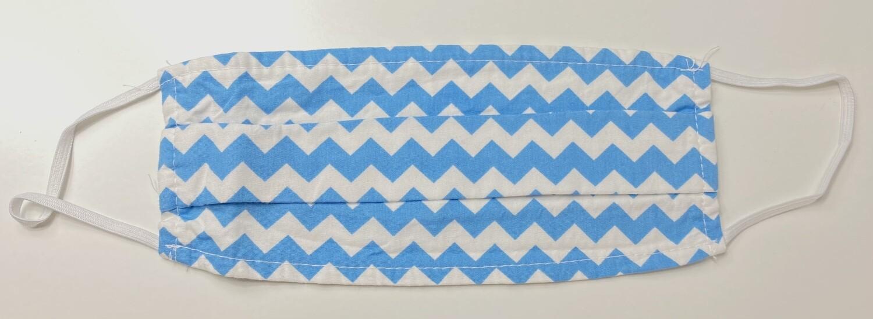 Μάσκα Ενηλίκων BLUE & WHITE CHEVRON - Ασπρο Μπλε Μοτίβο σε σχήμα V