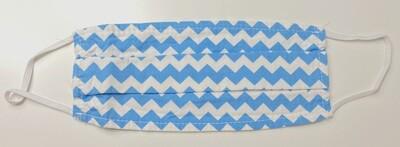 Μάσκα Ενηλίκων BLUE & WHITE CHEVRON - Ασπρο Μπλε Μοτίβο σε σχήμα V ∞