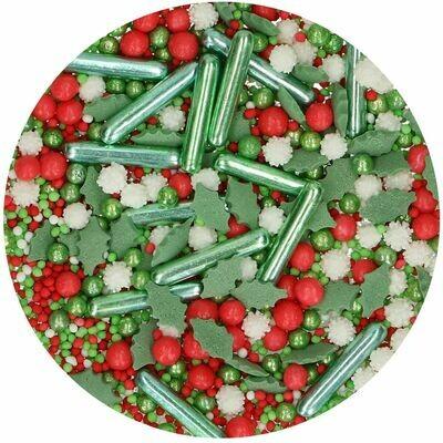 FunCakes Sprinkle Mix 65γρ -HOLIDAY MEDLEY - Μείγμα  Ζαχαρωτών Χριστουγεννιάτικο