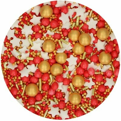 FunCakes Sprinkle Mix 65γρ -JOLLY MEDLEY - Μείγμα  Ζαχαρωτών Χριστουγεννιάτικο