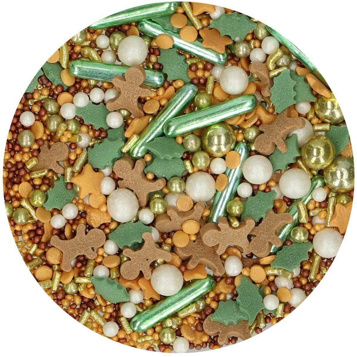 FunCakes Sprinkle Mix 65γρ -JOYFUL MEDLEY - Μείγμα  Ζαχαρωτών Χριστουγεννιάτικο