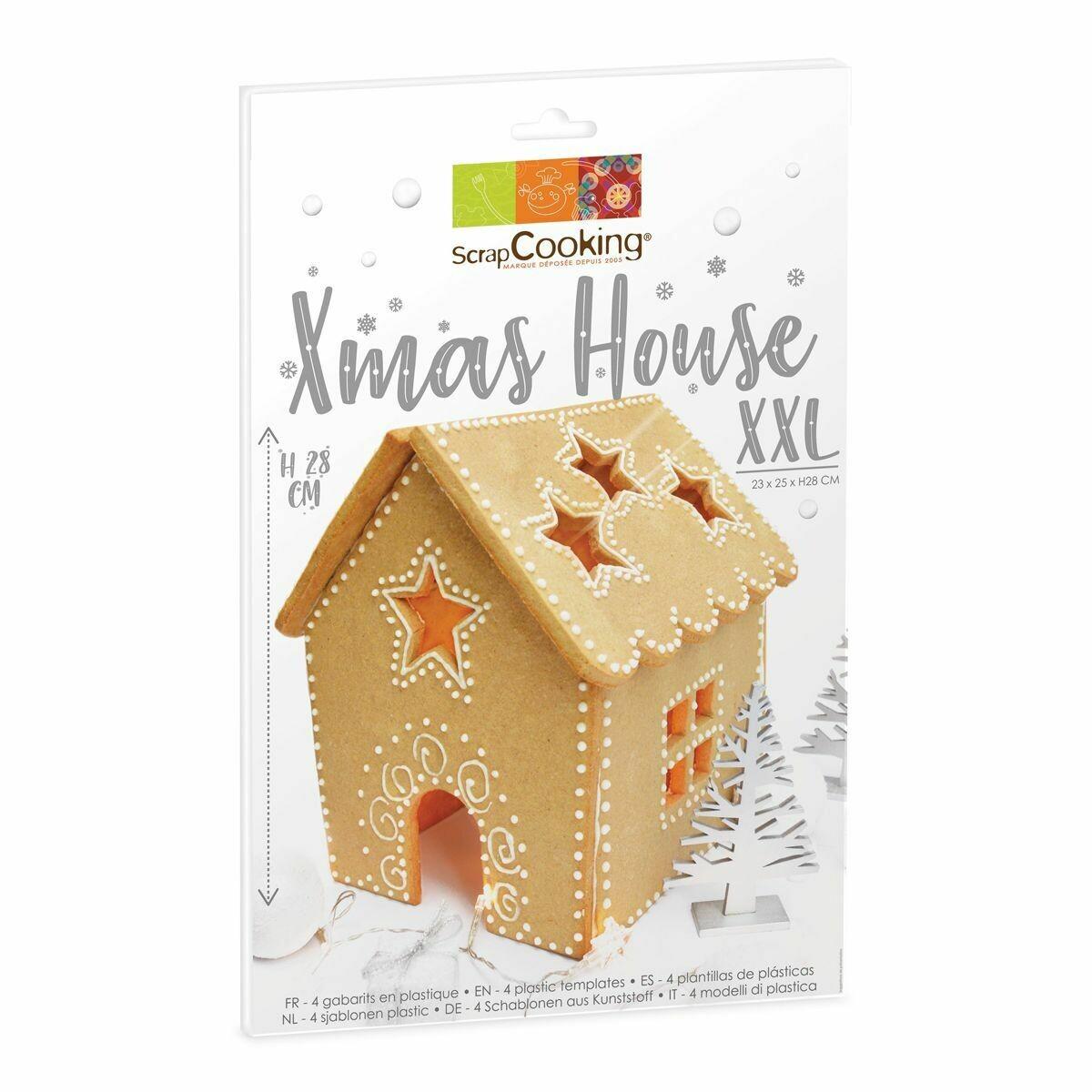 Scrapcooking Cookie Template XXL Xmas House Set of 4 - Σετ 4τεμ πλαστικά κουπ πατ για μεγάλο Μπισκοτόσπιτο