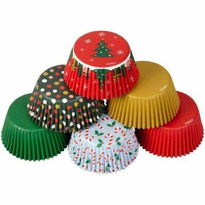 Wilton Christmas Cupcake Cases -TRADITIONAL HOLIDAY 150 τεμ - Θήκες Ψησίματος Καπκέικ/Μάφιν Χριστουγεννιάτικες