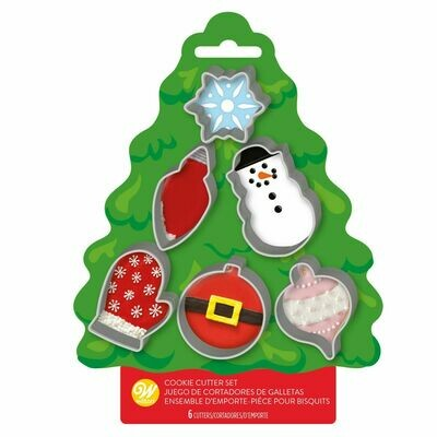 Wilton Christmas Cookie Cutter Tree Set of 6 - Σετ 6τεμ κουπ πατ Χριστουγεννιάτικα